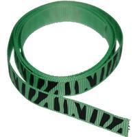 Dekorationsband Zebra grön 49 cm