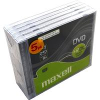 Maxell dvd+r 8.5gb doublelayer 5-pack