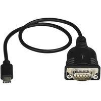 Startech USB-C to Serial Adapter with COM Retention 9-pin D-Sub (DB-9) Han 24 pin USB-C Han 0m (ICUSB232PROC)