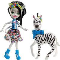 Mattel Enchantimals Zelena Zebra Doll & Hoofette