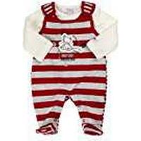 Kanz Unisex Baby Romper T-Shirt 1/1 Sleeves Striped Clothing Set, Red (Tango Red/Red), Newborn (Manufacturer Size:50)