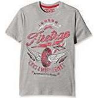 Firetrap Boy's Wing Wheels T-Shirt, Grey (Vintage Grey Heather), 6-7 Years