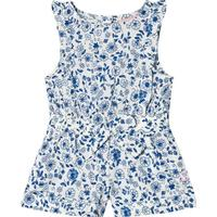 Joules Frill Jumpsuit Blue Ditsy Floral5 years