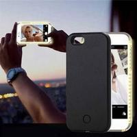 Selfie Cover med LED-lys til iPhone 6 Plus / iPhone 6s Plus - Sort