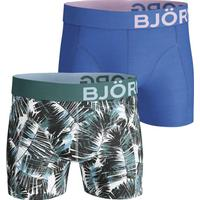 Björn Borg Summer Palm Cotton Stretch Shorts 2-pack Blue/Green (1811-1068_00071)