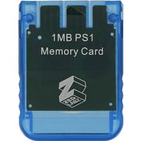 ZedLabz 1MB 15 block memory card for Sony PS1 PSX PlayStation one - PS2 compatible* - blue