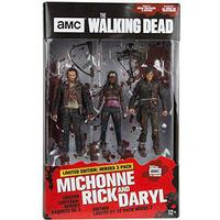 Rick Daryl Michonne (The Walking Dead) McFarlane Hero 3 Pack Figure Set