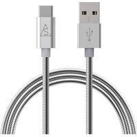 SmartLine USB-A/USB-C 2.0 Kabel Metall 1m, Silver