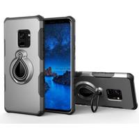 Samsung Galaxy S9 Rotating Kickstand PC + TPU Hybrid Back Case (Built-in Metal Sheet)