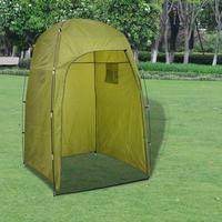 vidaXL Dusch/WC/omklädnings-tält grön