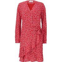 dc4740df24b6 Modström - Kjole - Gabriella Print Wrap Dress - Micro Flower Red