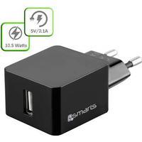 4smarts VoltPlug 10.5W Universal Oplader - Sort