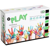 Fingerfärger, 6 färger