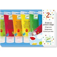 6 fingerfärger i tub - Djeco