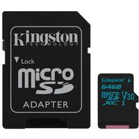 Kingston 64GB microSDXC Canvas Go 90R/45W U3 UHS-I V30 + SD Adapter