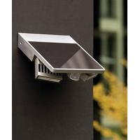 ECO-Light Solcelle-udendørs vægbelysning med bevægelsessensor ECO-Light Ghost Solar 4 W 420 lm Neutral hvid Sølv