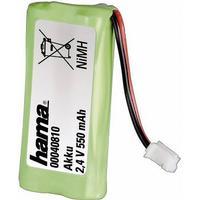 Hama 40810 40810 Batterier til trådløs telefon Passer til: Siemens, Gigaset, Universum NiMH 2.4 V 550 mAh