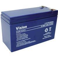 Vision Akkus LFP124.5 Special-batteri LiFePo-batteri Fladstik LiFePO 4 12.8 V 4500 mAh