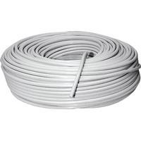 Schwaiger KOX964100002 Koaksialkabel Udvendig diameter: 4.60 mm Hvid 100 m