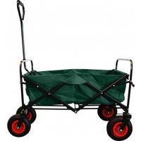 MAXOfit® Trækvogn, grøn med lufthjul, op til 70 kg