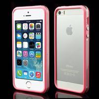 iPhone 5/5s/SE TPU Bumper - Gennemsigtig/Pink