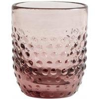 Vandglas - h10 cm - lys pink