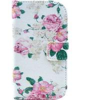 MTP Products Samsung Galaxy S Duos S7562, Trend Plus S7580 Pung Læder Taske - Rose