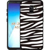 NXE Fashion Samsung Galaxy A8 (2018) TPU Cover - Zebra