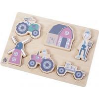 Sebra Farm Boy Wooden Chunky Puzzle