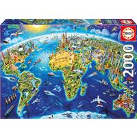 Educa World Landmarks Globe 2000 Pieces