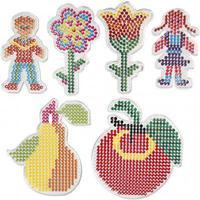 Pärlplattor - Barn och blommor - 6 st