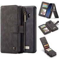 MTP Products Caseme 2-i-1 Multifunktionel Samsung Galaxy S9 Pung Taske - Sort