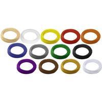 Renkforce Filamentpaket Renkforce ABS-plast 2.85 mm Natur, Svart, Vit, Röd, Gul, Blå, Grön, Orange, Grå, Purpur, Brun, Guld, Silver 650 g