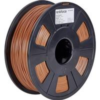 3D-skrivare Filament Renkforce PLA-plast 1.75 mm Brun 1 kg