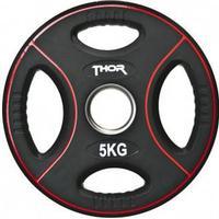 Thor Fitness Svarta PU Viktskivor Med Handtag 5KG