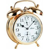 Atlanta 1058/9 Mechanischer Wecker Glockenwecker Doppelglockenwecker golden