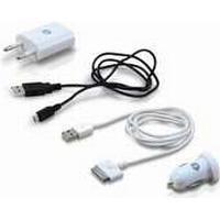 Conceptronic USB Charging Kit 1A, Automatisk, Indendørs, Digitalt kamera, GPS, Mobiltelefon, MP3, Strøm, Cigartænder, Hvid, Strøm, 100 - 240V