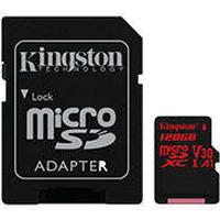 HQ Micro SDXC kort 128GB V30 A1 m/adapter (UHS-I U3) Kingston