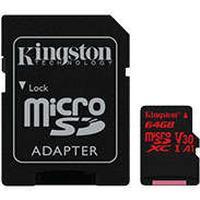 HQ Micro SDXC kort 64GB V30 A1 m/adapter (UHS-I U3) Kingston