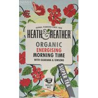 Heath & Heather Organic Morning Time 20 Teabags 6-pack