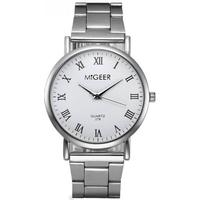 Migeer Fashion Luxury Stainless Steel Quartz Gift Business Army Watch - White