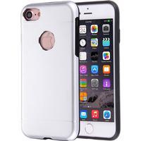 Motomo Mobilskal till iPhone 8/7 TPU Metall Silver