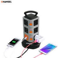 HAWEEL USB Power Strip Wall Socket 11 EU/US Plug 2 USB Ports with Switch 1.8M Extension Cord Outlet Panel 2500W Adapter