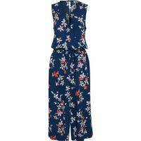 Soaked In Luxury - Jumpsuit - Aster Jumpsuit - Dark Blue Floral