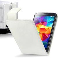 Qubits PU-Läder Flipfodral Samsung Galaxy S5 - Vit