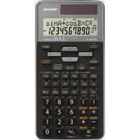 Skolräknare Sharp EL-531TG Grå Display (ställen): 10 solcell, batteri (BxHxD) 80 x 15 x 161 mm