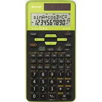 Skolräknare Sharp EL-531TG Grön Display (ställen): 10 solcell, batteri (BxHxD) 80 x 15 x 161 mm