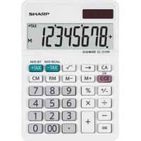 Sharp Bordsräknare Sharp EL-310 W Vit Display (ställen): 8 solcell, batteri (BxHxD) 85 x 26 x 122 mm