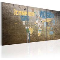 Billede - Kort of the World - industrielle stil 60x30