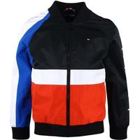 Tommy Hilfiger Colour-Blocked Bomber Jacket - Jet Black (KB0KB03848)